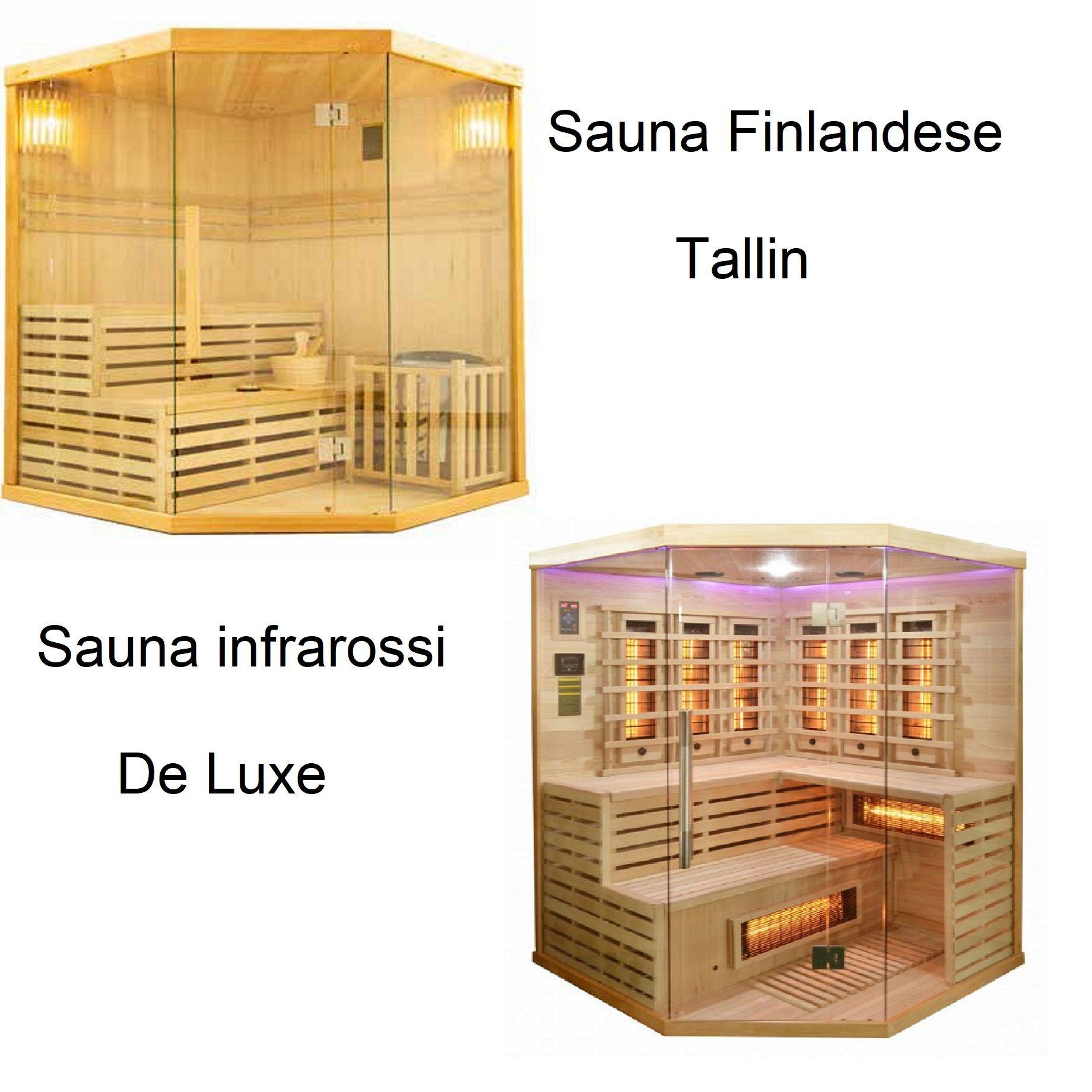 Saune infrarossi e finlandesi